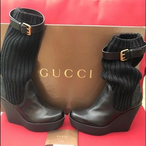 Gucci wedge boot 38 1/2